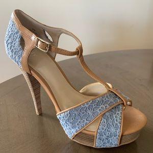 Women's Light Denim Colored Heels